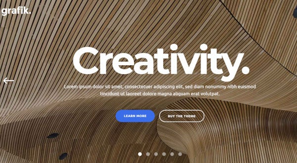 grafik a beautiful design and architecture wordpress theme