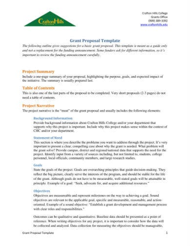 grant proposal template 11