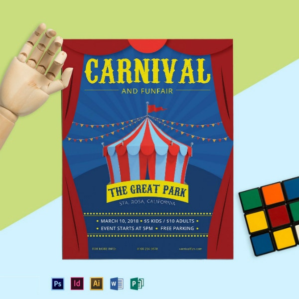 great carnival park flyer format