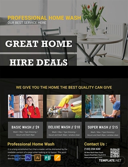 great house cleaning services flyer