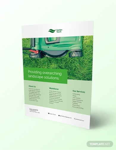 green touch landscaping flyer template