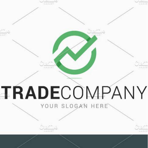 green trade company logo template