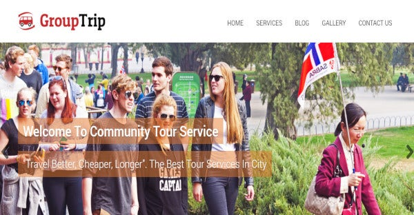 Group Trip – Custom WordPress Theme