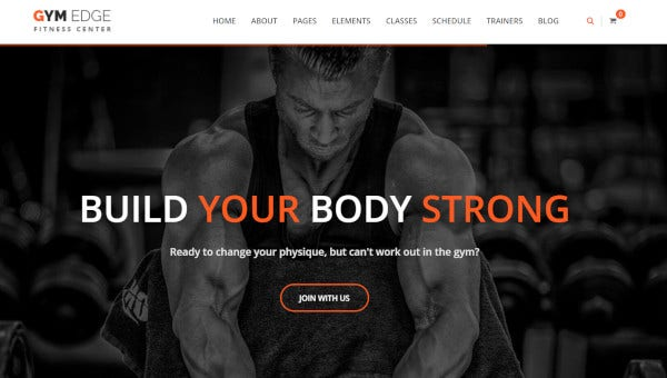 gym edge user friendly wordpress theme