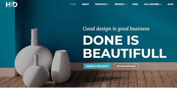 hd interior design wordpress theme