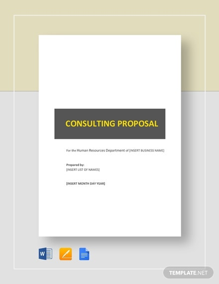 hr consulting proposal