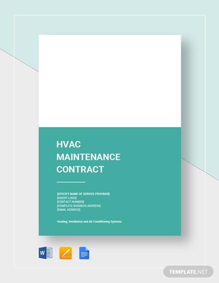 hvac maintenance contract 2