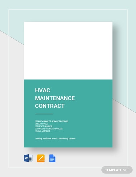 hvac maintenance contract 21