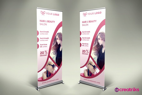 hair style roll up banner