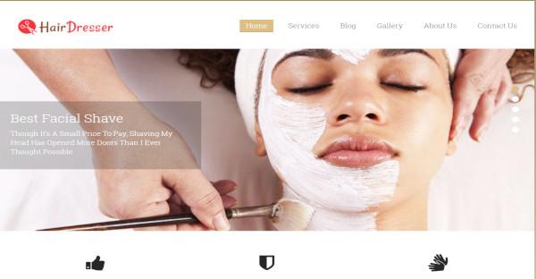 hairdresser – facial hair shaving wordpress theme