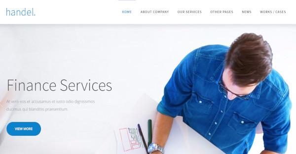 handel responsive business wordpress theme