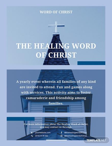 healing word church flyer design