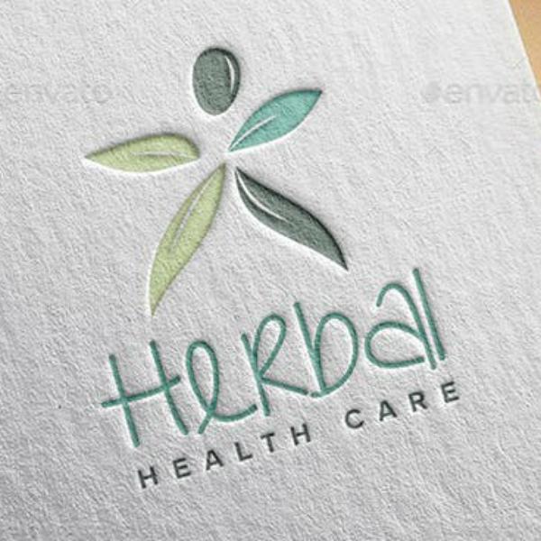 herbal health company logo sample
