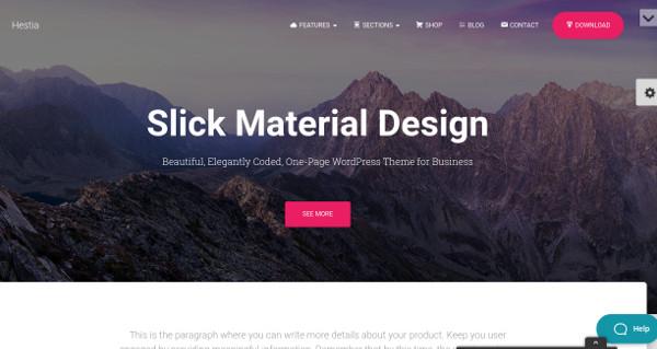 hestia page builder compatible wordpress theme