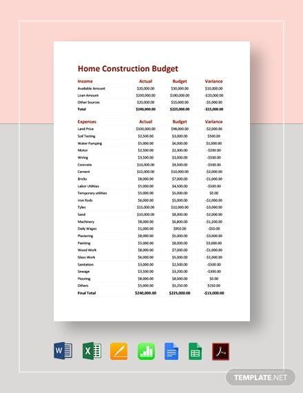 home construction budget 4