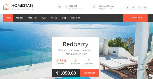 home state parallax wordpress theme