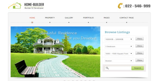 Homebuilder – Real Estate Agent WordPress Theme