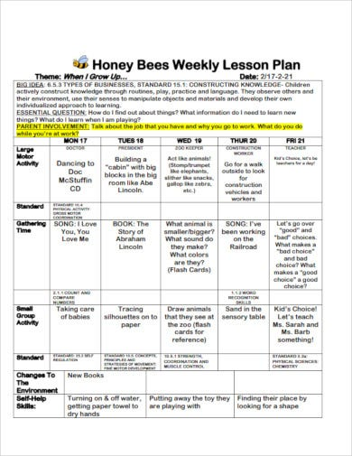 honey bees weekly lesson plan