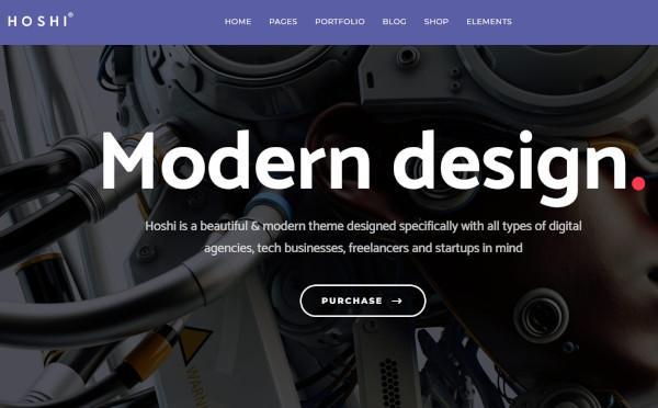hoshi parallax wordpress theme