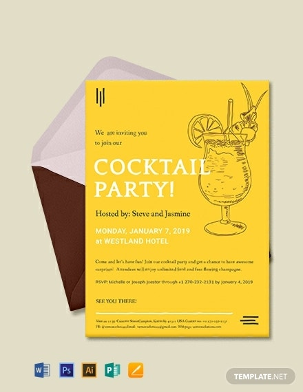 hotel cocktail party invitation example