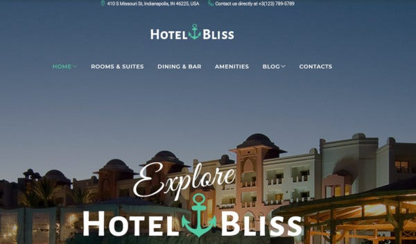 hotelbliss – responsive wordpress theme