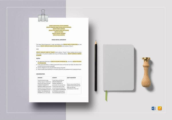 house rental agreement template2