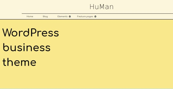 human-editable-widget-wordpress-theme