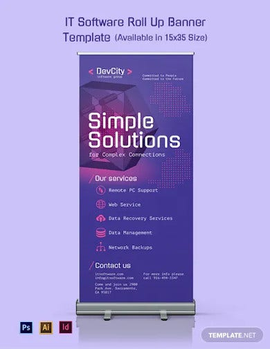 it software roll up banner template