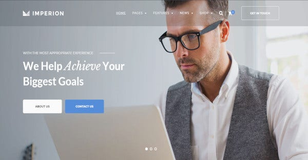 imperion html coded wordpress theme