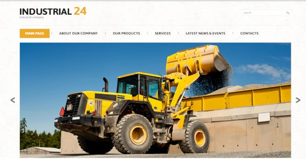 Industrial 24 – Responsive WordPress Theme