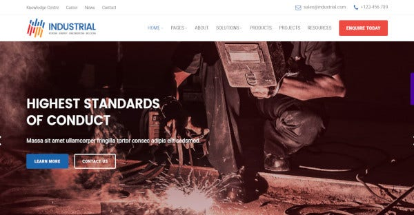 Industrial - HTML5 WordPress Theme