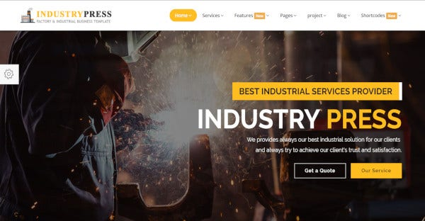 Industrypress – Responsive WordPress Theme