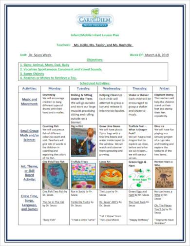 infant mobile infant lesson plan