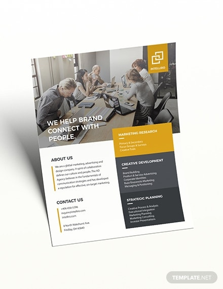 intelligent corporate business flyer format