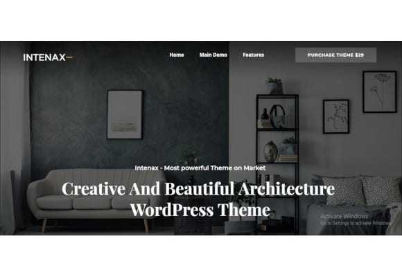 intenax architecture wordpress theme