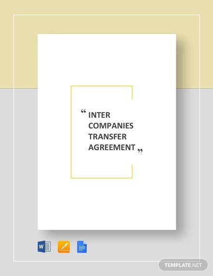 Intercompanies Transfer Agreement Template