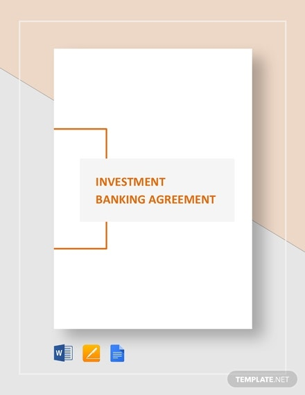 investment banking agreement