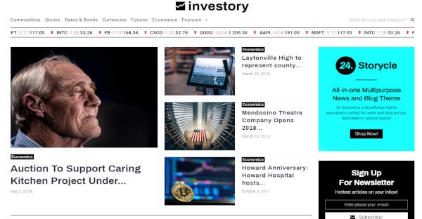 Investory - WPML WordPress Theme