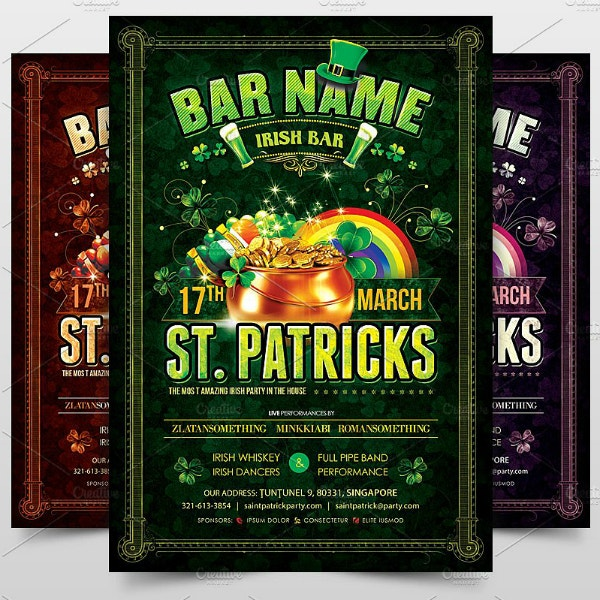 Irish Bar St Patrick's Day Poster