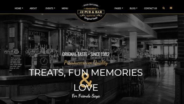 jz pub bar highly customizable wordpress theme
