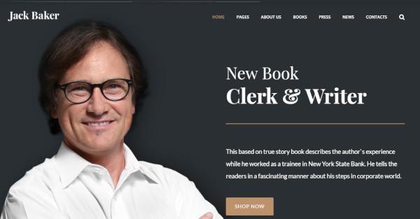 jack baker elementor page wordpress theme