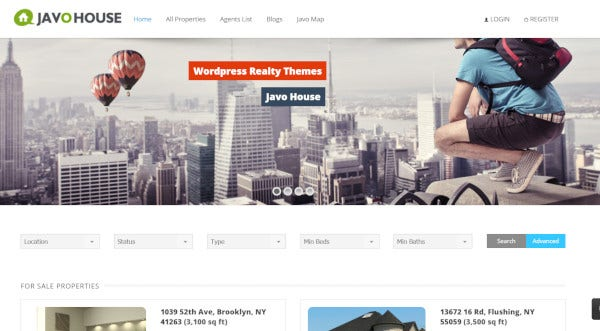 javo house – bootstrap wordpress themes