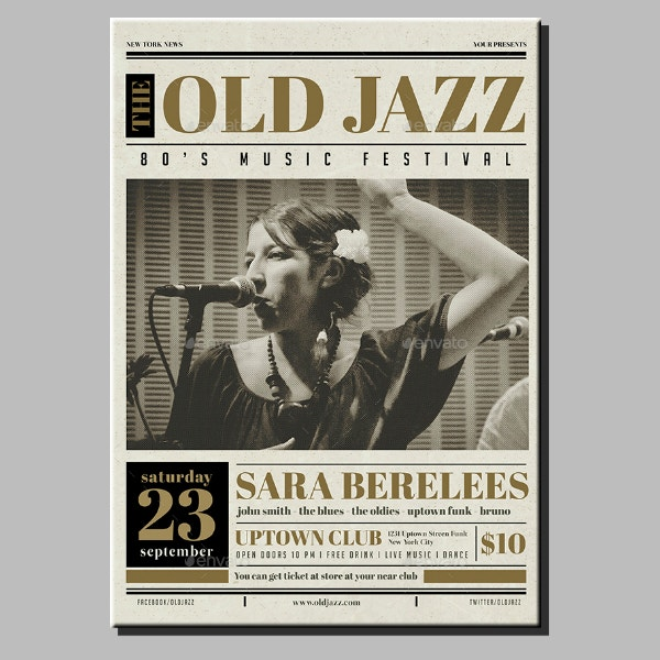 Jazz Newspaper Flyer Template