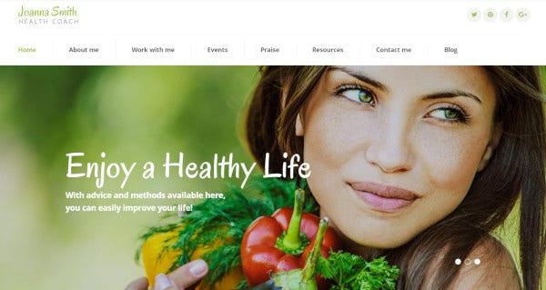 joanna smith a wordpress template for weight loss