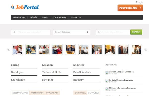 job-portal-mobile-friendly-wordpress-theme