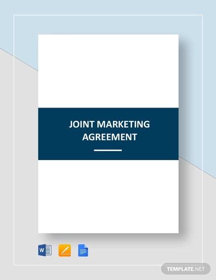 joint marketing agreement template