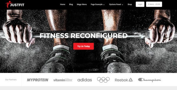 justfit flexible wordpress theme