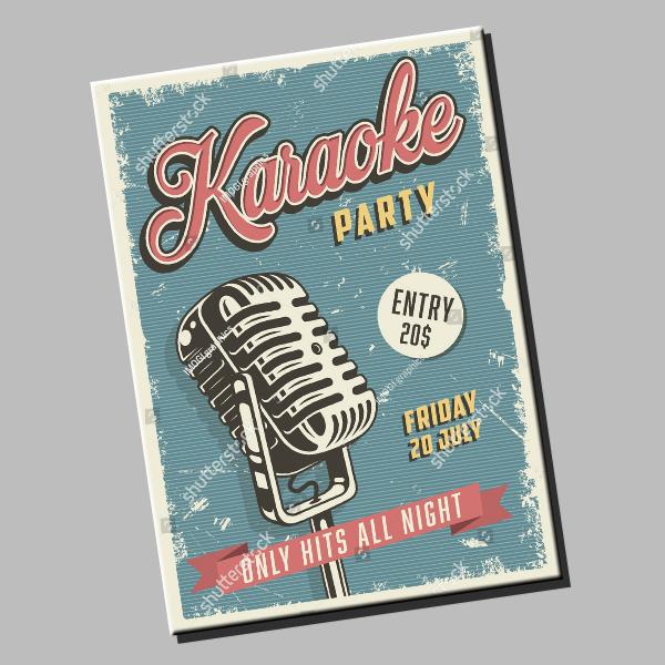Karaoke Party Hits Poster Sample