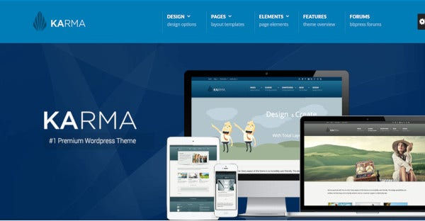 karma 60 color variations wordpress theme