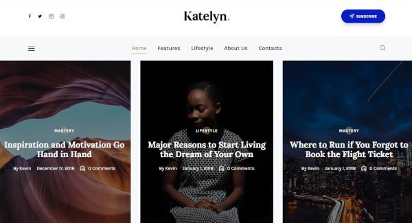 katelyn html5 wordpress theme